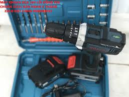 Máy khoan pin 36V boss 3 chức năng có búa - Tặng kèm 24 chi tiết gồm các  mũi khoan + Mũi bắt vít - Kèm theo 2 pin chính hãng