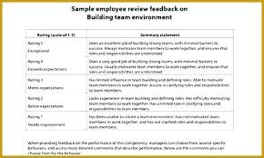 Job Performance Evaluation Form Templates 2 Job Performance Evaluation Comments Form Examples Sample Employee