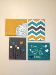 Diy Canvas Painting Cute Diy Dorm Art This Matches My Comforter Would Like A Better