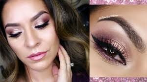 valentine s day makeup tutorial romantic rose gold eyes glowing skin hooded eyes prom makeup you