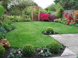 Small Picture Nice Decoration Small Backyard Landscape Design With Lush Grass