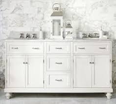 pottery barn double vanity. Custom Classic Double Sink Vanity With Doors Storage Carrara Marble To Pottery Barn