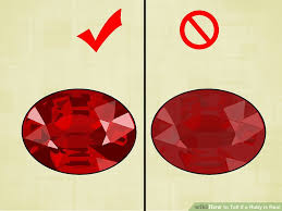 Ruby Gemstone Color Chart 4 Ways To Tell If A Ruby Is Real Wikihow