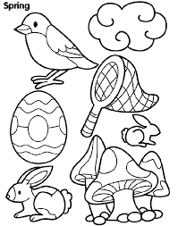 Spring Coloring Page For Kids | Spring Coloring pages of ...
