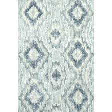 s blue ikat rug and gray