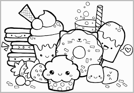 Cute Coloring Pages For Adults Admirable Foods Doodle Coloring Page