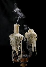 Make Spooky Candlesticks Or Candelabras With Heavily Dripping Wax