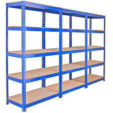 3 Racking Bays 90cm Warehouse Shelves Storage Garage Shelving Unit Steel 5  Tier: Amazon.co.uk: DIY & Tools