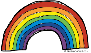 rainbow Clip Art Free | Fresh Doodles - Free Clip Art For Teachers: Rainbow Clip Art | Rainbow clipart, Clipart black and white, Clip art