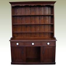 antique furniture pine dresser with glass doors