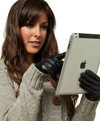 women s wool lined touchscreen leather gloves