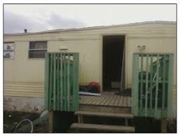 mobile home front doorsFront Door Stripped off Mobile Home As Forced Evictions Reach New