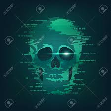 Concept Of Cyber Crime Internet Piracy And Hacking Shape Of