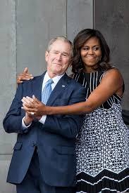 George W Bush Michelle Obama Unlikely Duo Cnn Video