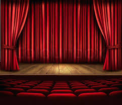 red curtain a theater stage with a red curtain seats and a spotlight vector stock vector big red curtain theatreworks wakefield wakefield