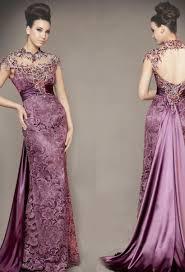 80 vintage venice purple lace wedding dress stretch satin inner
