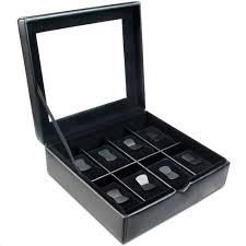 Ikee Design Watch Box Ikee Design Deluxe Black Faux Leather Watch Case Box Jewelry Storage For Men