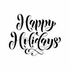 happy holidays black and white card.  White Happy Holidays And Black White Card P