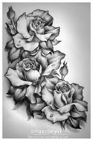 розы на бедре тату эскиз тату цветы розы на бедре работы мастеров