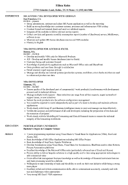 Vba Developer Resume Sample VBA Developer Resume Samples Velvet Jobs 1