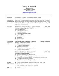 Sample Resume Medical Assistant Just Graduated Best Medical