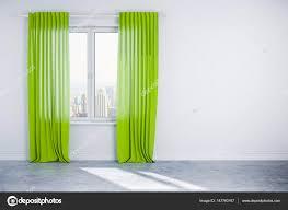 3d Innenwand Mit Fenster Und Vorhang Stockfoto Digitalgenetics