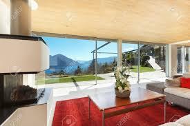 Case Di Montagna Interno : Casa di montagna interni moderni soggiorno foto royalty free