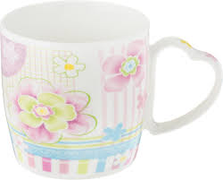 """<b>Кружка Loraine</b> """"<b>Фиалки</b>"""", <b>цвет</b>: белый, розовый, салатовый, 300 ..."""