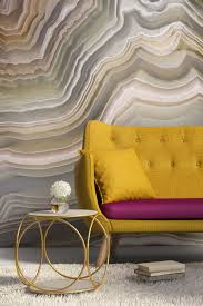 polished cut of agate mural