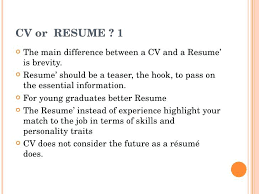 Difference Between Cv Resume Businessdegreeonlineco Delectable Difference Between Cv And Resume