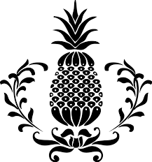black and white pineapple png. hospitality pineapple logo rates black and white png