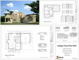 h265 cottage dwg house plans