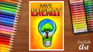 Save Electricity Chart How To Draw Save Energy Poster Chart For School Students