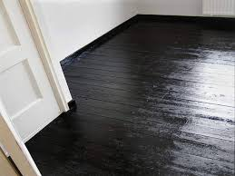 how to paint wood floors black