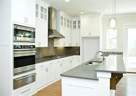 white and gray quartz countertops cabinets with for kitchen dark grey