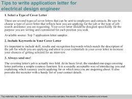 electrical design engineer application letter      tips to write application letter for electrical design engineer