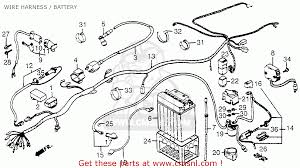 honda trx fourtrax e usa wire harness battery wire harness battery schematic
