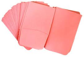 Paper Coin Envelopes Pink