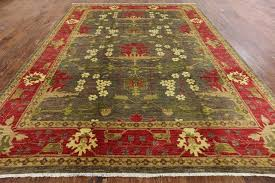 new majestic oriental hand knotted area rug 9 x 12 olive green red