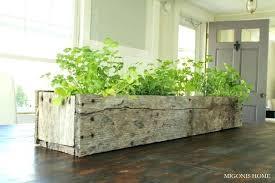 indoor herb garden containers kitchen herb garden in wood box planter home indoor  herb planter ideas . indoor herb ...