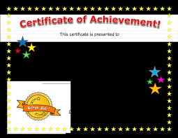 Microsoft Powerpoint Certificate Template Certificate Of Accomplishment Template Powerpoint