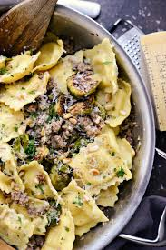 italian sausage brussels sprout ravioli