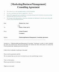Consultancy Template Free Download Simple Consulting Contract Template New Consulting Agreement