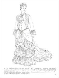 Small Picture Fashions of the First Ladies Coloring Book History Coloring