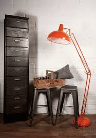 Industry Giant Angled Orange Floor Lamp | Oversized Floor Lamp | Floor Lamps  Essex