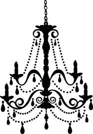 simple black chandelier stencil the hippest galleries wrought iron36