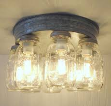 rustic mason jar ceiling light fixture flush mount kitchen lighting 270