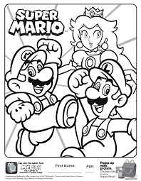 Here Is The Happy Meal Super Mario Coloring Page Click The Picture