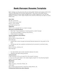 Bank Branch Manager Job Description For Resume Best Of Bank Manager