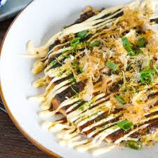 Press the rice into the skillet, about 1/4 inch thick. How To Prepare Tasty Okonomiyaki Japanese Pizza Japanese Savory Pancake Recipe Video Babe Cook